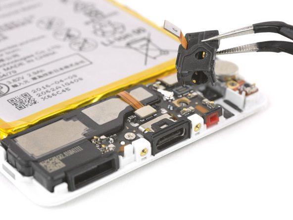 تعمیرات موبایل : آموزش تعویض جک هدفون هوآوی P9
