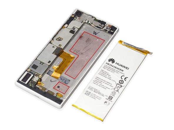 تعمیرات موبایل : آموزش تعویض باتری هوآوی P7