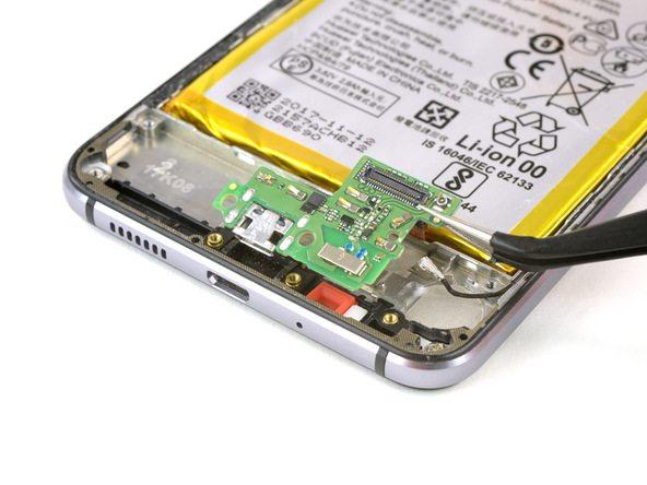 تعمیر موبایل : آموزش تعویض سوکت شارژ هوآوی پی 10 لایت (P10 Lite)