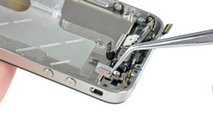 تعمیر آیفون: تعویض دکمه سایلنت آیفون ۴ اپل