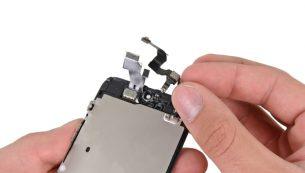 آموزش تعویض دوربین سلفی آیفون ۵ اپل