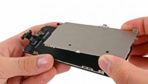 تعمیرات آیفون: تعویض پلیت محافظ ال سی دی آیفون ۵ اپل