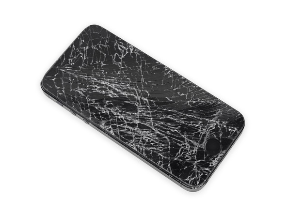 اگر صفحه نمایش آیفون SE تعمیری شکسته یا ترک دارد بهتر است قبل از شروع کار روی آن را با چند لایه چسب نواری بپوشانید.