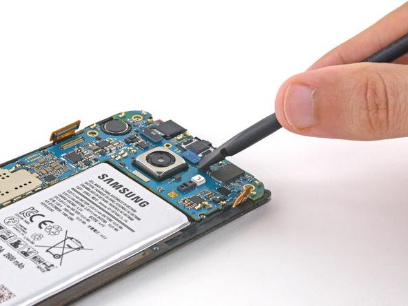 کانکتور اسپیکر مکالمه Galaxy S6 Edge تعمیری را باز کنید.