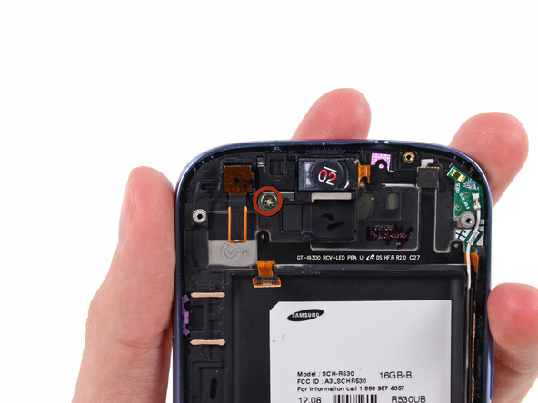 پیچ 2.0 میلیمتری نگهدارنده دوربین سلفی گلکسی اس 3 تعمیری را باز کنید.