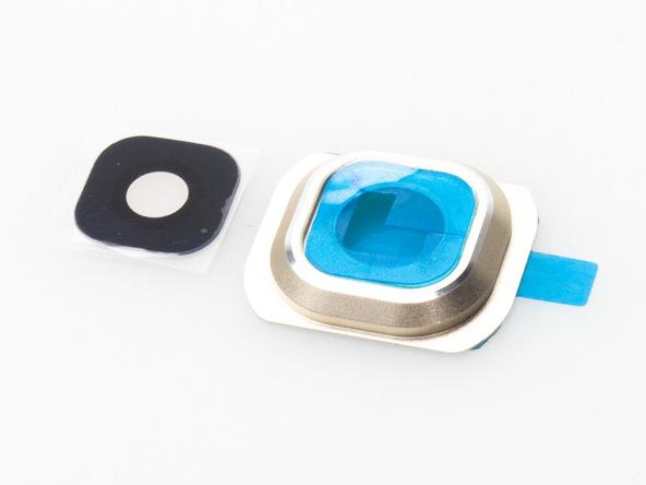 چسب لنز نگهدارنده شیشه دوربین اصلی گلکسی اس 6 سامسونگ را روی رینگر وصل کنید.