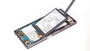 آموزش تعویض باتری Xperia Z5 سونی