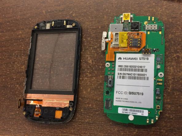 نکته: تاچ ال سی دی هوآوی u7519 دقیقا به پشت مادربرد این گوشی متصل است و هیچ راهی برای جداسازی این دو قطعه از هم وجود ندارد. بنابراین به منظور تعویض تاچ ال سی دی هوآوی u7519 میبایست کل مجموعه مادربرد گوشی تعویض شود.