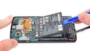 تعمیرات ال جی :تعویض باتری نکسوس ۵ ال جی