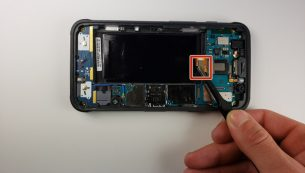آموزش تعویض دوربین پشت گلکسی S7 Active