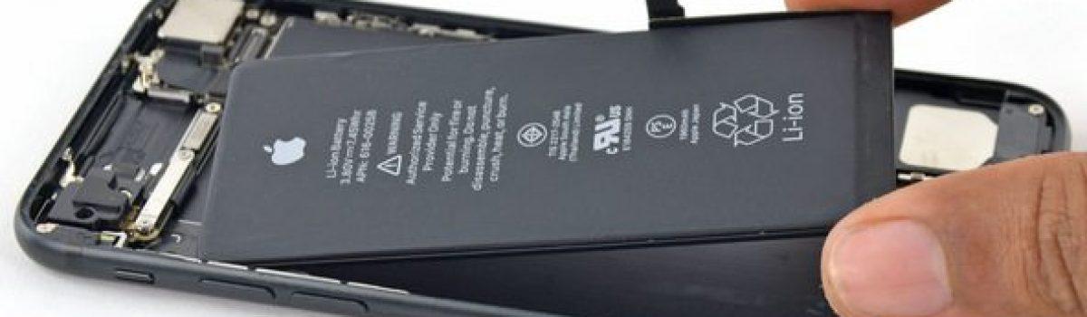 تعمیر باتری آیفون ۷ اپل و نصب باتری اورجینال با کمترین هزینه