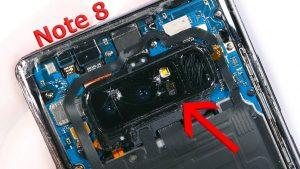 تعمیر یا تعویض دوربین گوشی نوت 8 سامسونگ