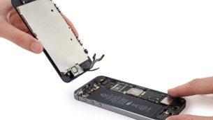 تعویض و تعمیر ال سی دی آیفون ۵S | موبایل کمک
