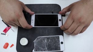 تعویض گلس یا شیشه شکسته ال سی دی آیفون ۷ اپل را با هزینه کم به موبایل کمک بسپارید!