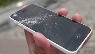 تعویض گلس یا شیشه شکسته آیفون ۵c