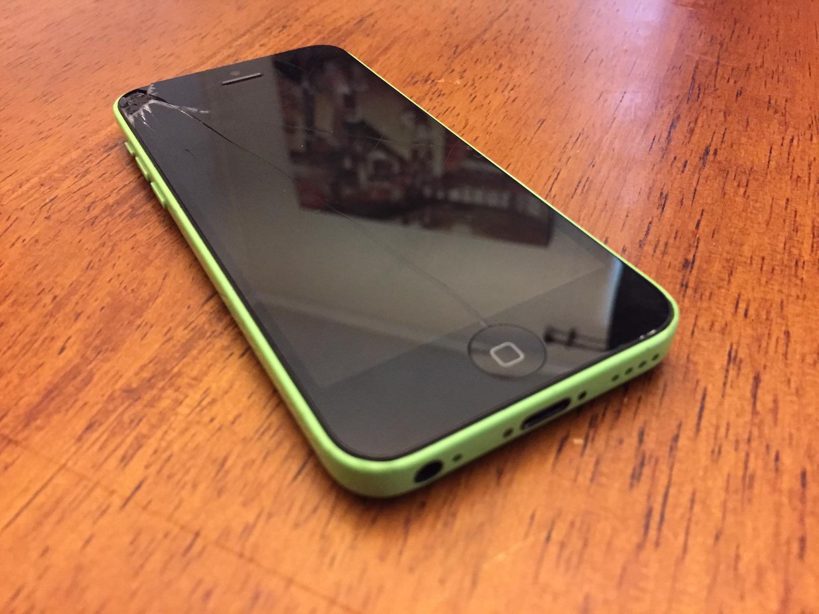 راهنمای تعویض گلس یا شیشه شکسته Apple iPhone 5c