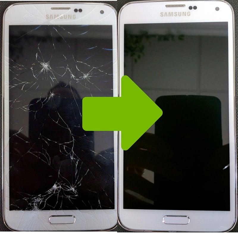 تعویض گلس سامسونگ گلکسی اس 5 در موبایل کمک