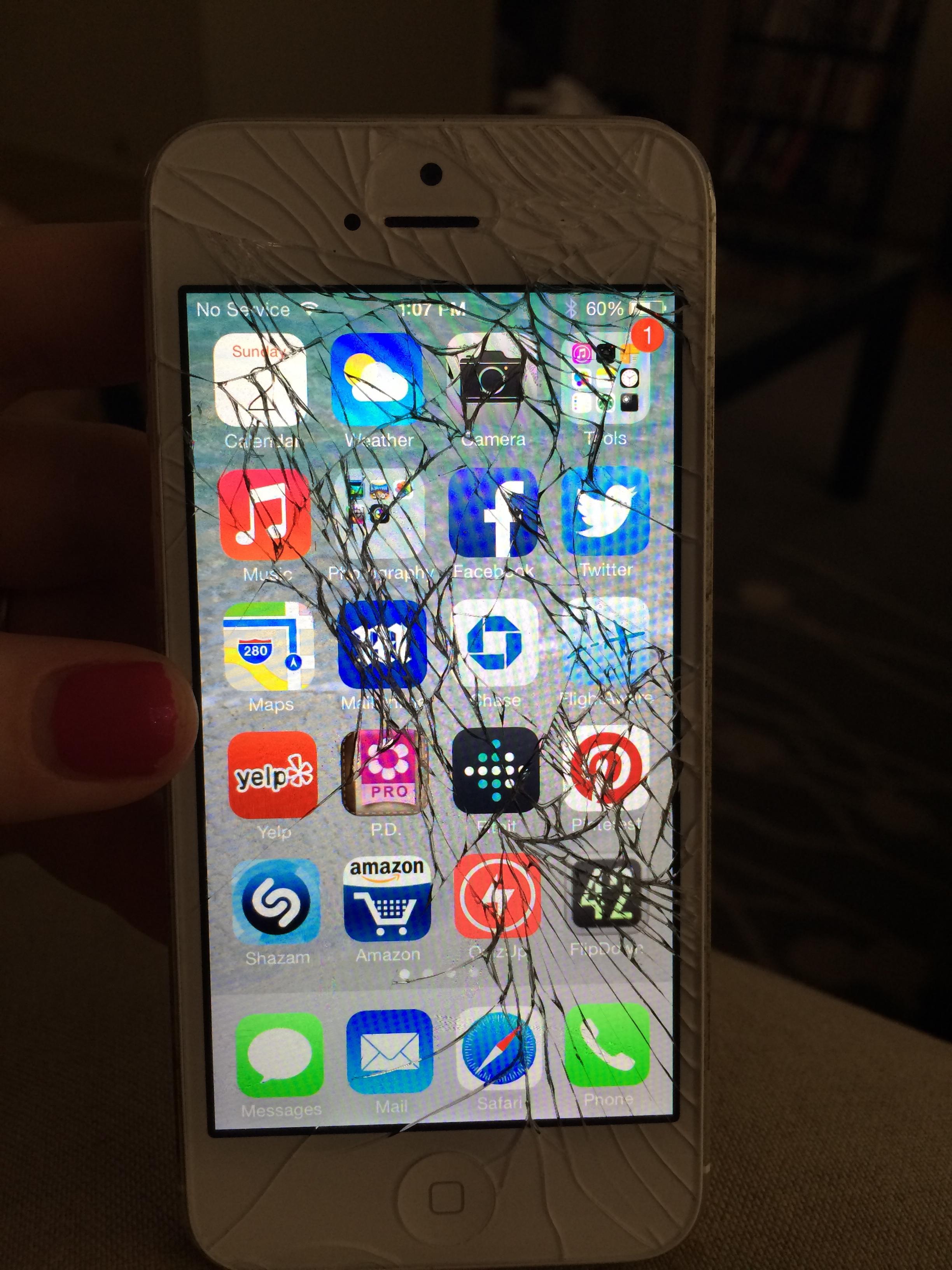 راهنمای تعویض گلس یا شیشه شکسته Apple iPhone 5s