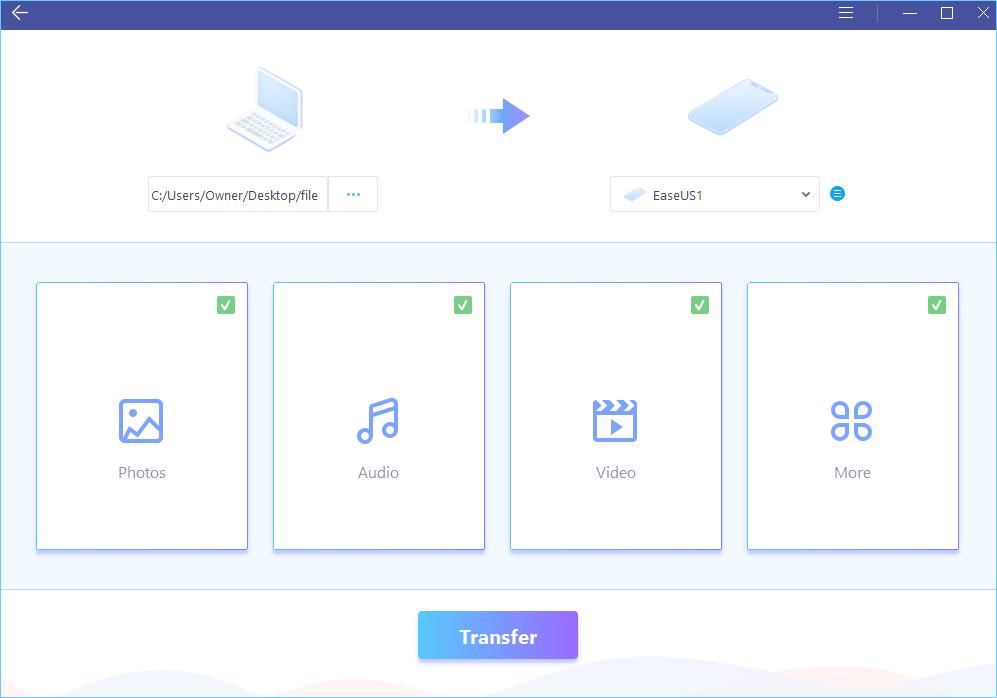 انتقال فایل از آیفون به کامپیوتر با نرم افزار EaseUS MobiMover