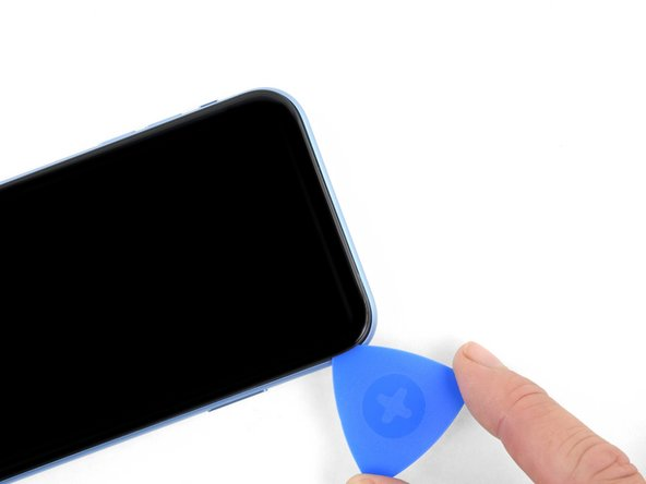 شل کردن لبه فوقانی قاب iPhone XR
