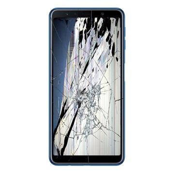 تعویض گلس یا شیشه شکسته سامسونگ گلکسی (A7 (2018