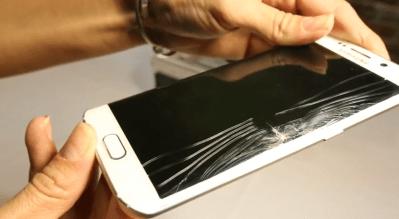 تعویض گلس یا شیشه شکسته سامسونگ گلکسی S6 edge
