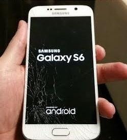 تعویض گلس یا شیشه شکسته سامسونگ گلکسی اس 6