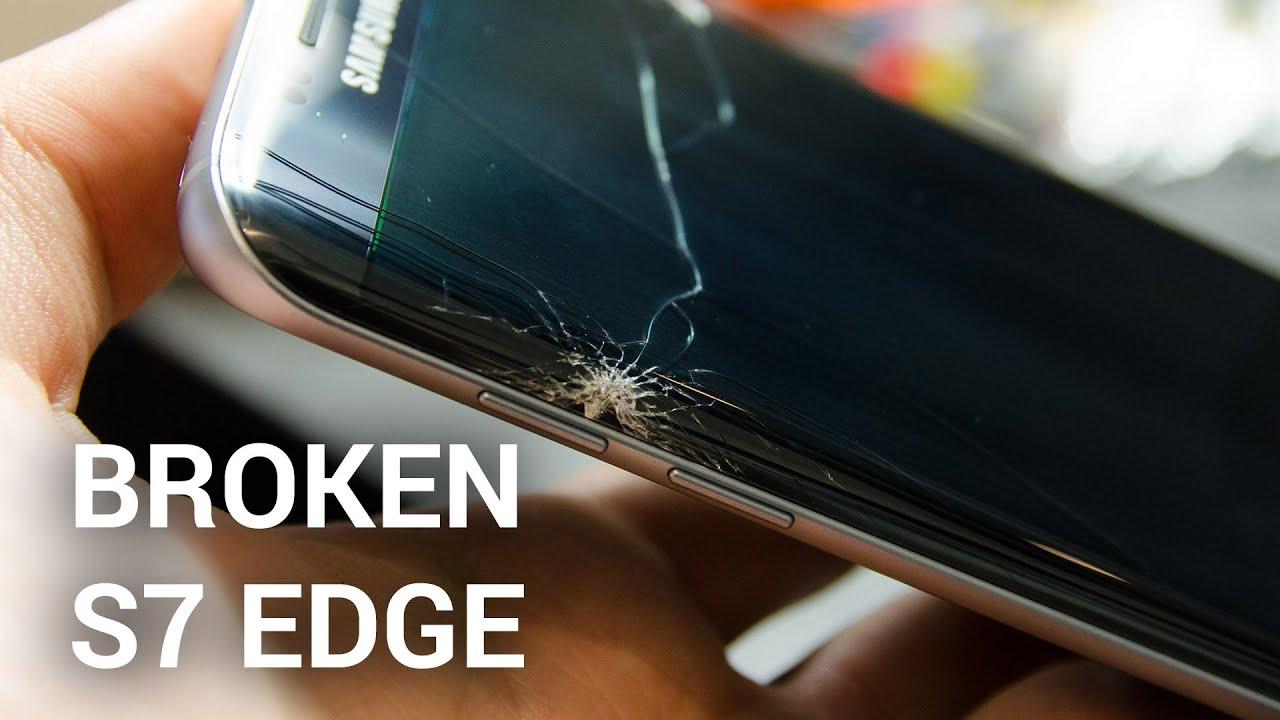 تعویض گلس یا شیشه شکسته سامسونگ گلکسی S7 edge