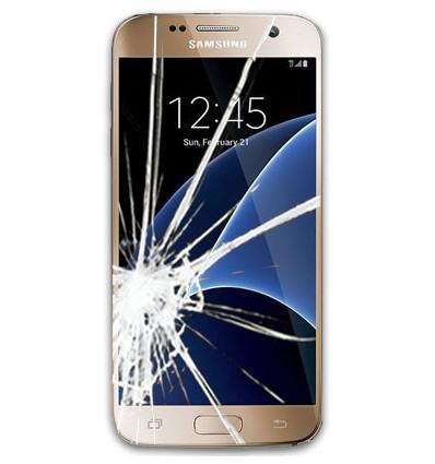 تعویض گلس یا شیشه شکسته سامسونگ گلکسی اس 7