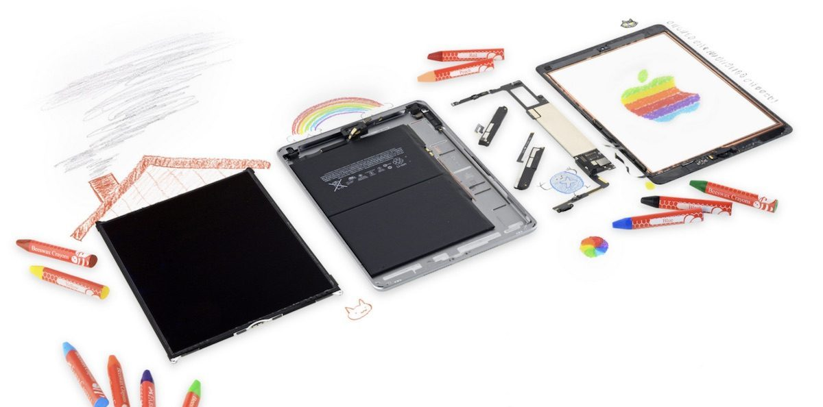 تعویض گلس آیپد 9.8 اینچ 2018 | تعمیرات آیپد | نمایندگی اپل