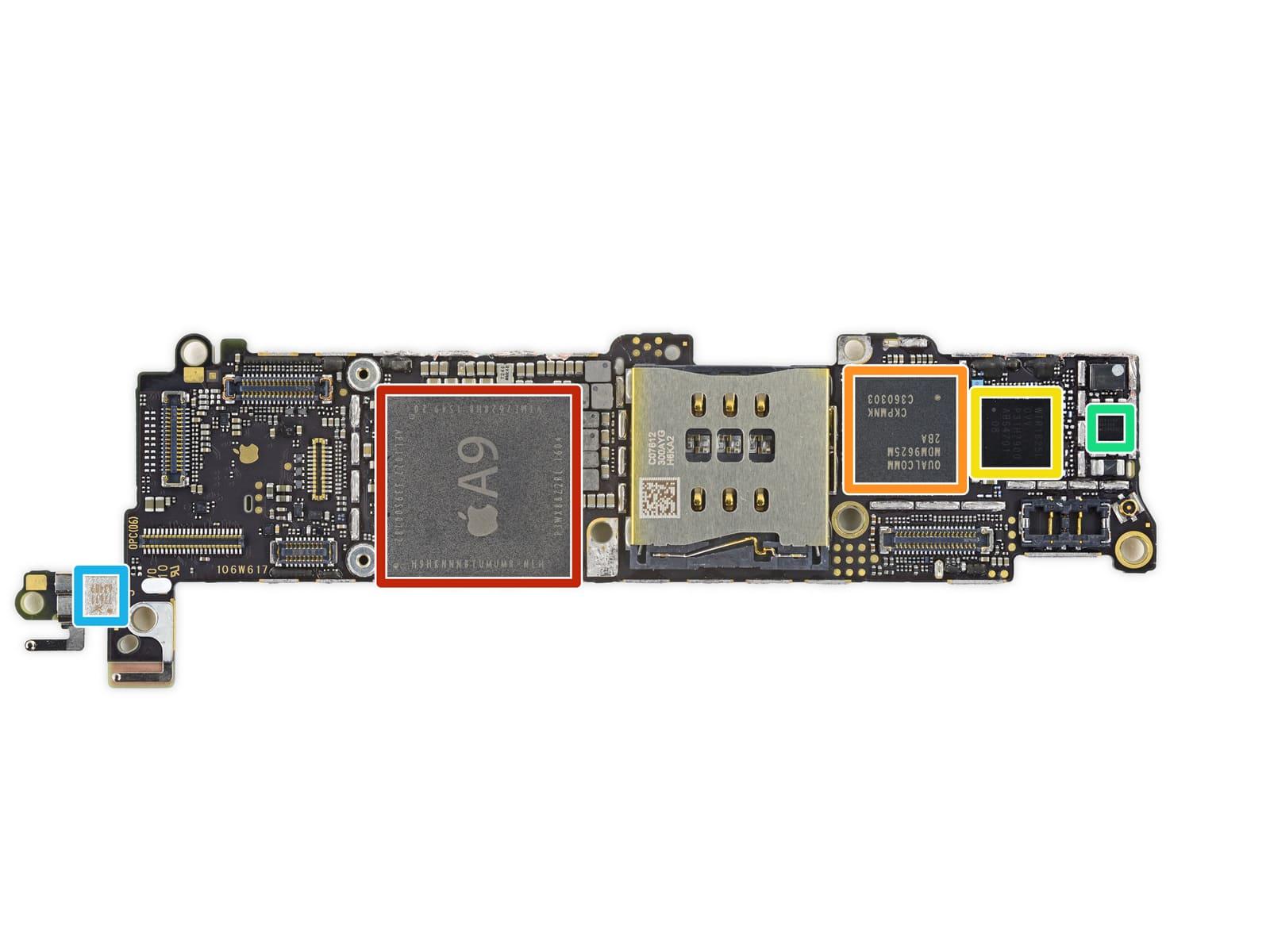 راهنمای تعمیر برد آیفون اس ای اپل