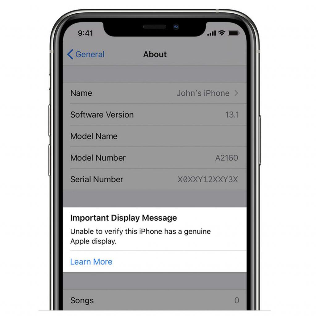 رفع پیام Important Display Message آیفون بعد از تعویض LCD | گارانتی رسمی اپل