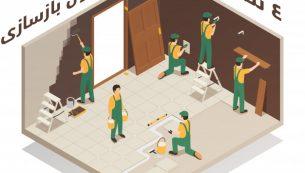 چهار نکته مهم در مورد اصول بازسازی خانه و ساختمان