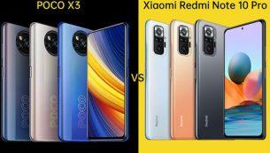 مقایسۀ Redmi Note 10 pro با POCO X3