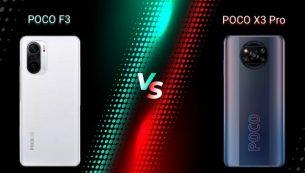 مقایسۀ گوشی Poco X3 Pro و Poco F3