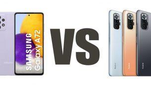 مقایسۀ Redmi Note 10 و A72