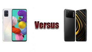 مقایسۀ Poco M3 و Galaxy A51