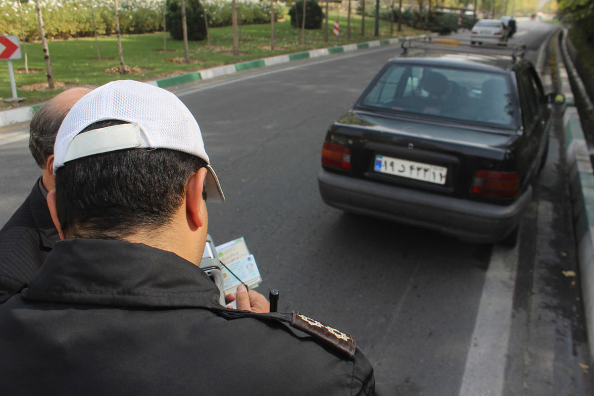 ثبت خلافی خودرو توسط پلیس راهور