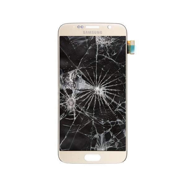 گلس سامسونگ S6 + اجرت تعویض